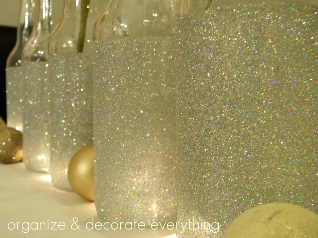 DIY Glittered IZZE Bottles – Perfect for Vases and Other Decorations