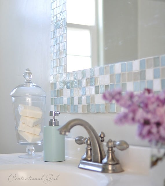 Bathroom DIY – Make Your Own Gorgeous Tile Mirror
