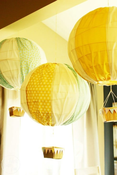 Try This: Hot Air Balloons - Top 28 Most Adorable DIY Baby Projects Of All Time