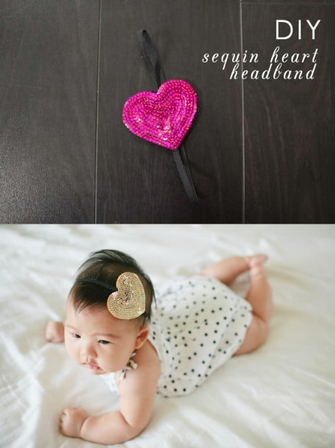 DIY Sequin Headband - Top 28 Most Adorable DIY Baby Projects Of All Time