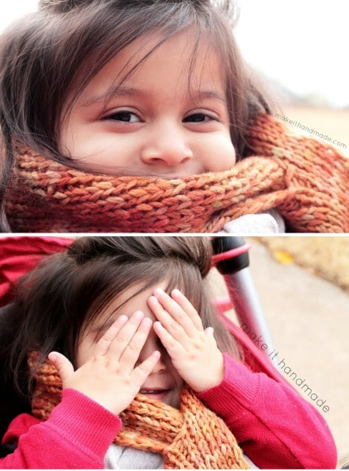 The Sunset Scarf-- With Free Pattern! - Top 28 Most Adorable DIY Baby Projects Of All Time