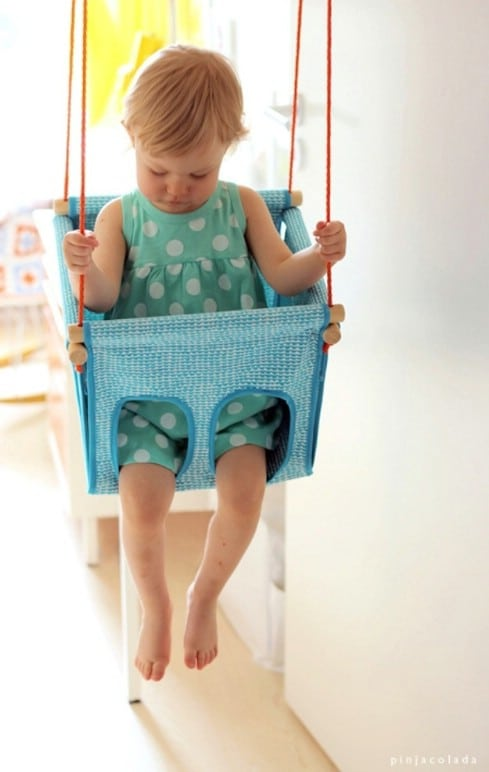DIY child swing - Top 28 Most Adorable DIY Baby Projects Of All Time