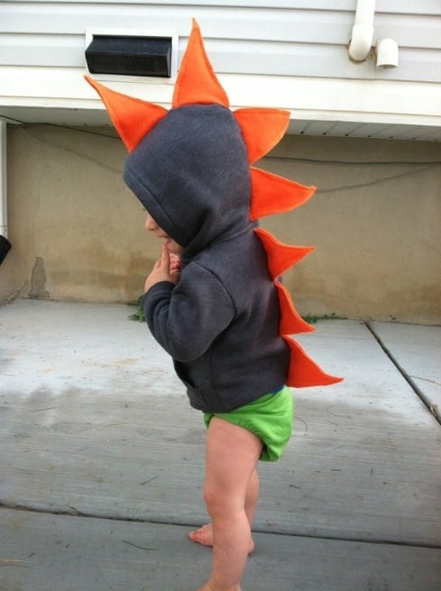Dinosaur Hoodie - Top 28 Most Adorable DIY Baby Projects Of All Time