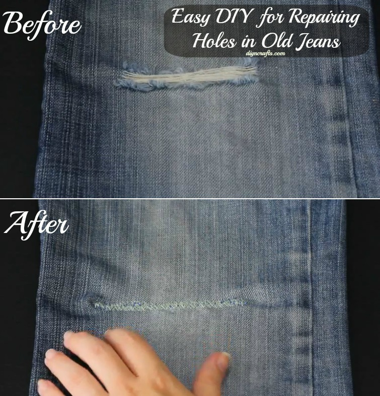Easy Diy For Repairing Holes In Old Jeans Crafts