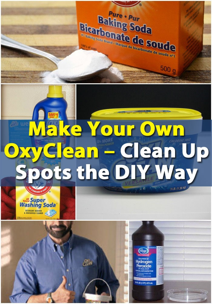 Make Your Own OxyClean – Clean Up Spots the DIY Way