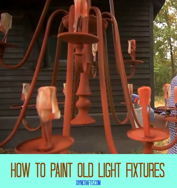How to paint old light fixtures