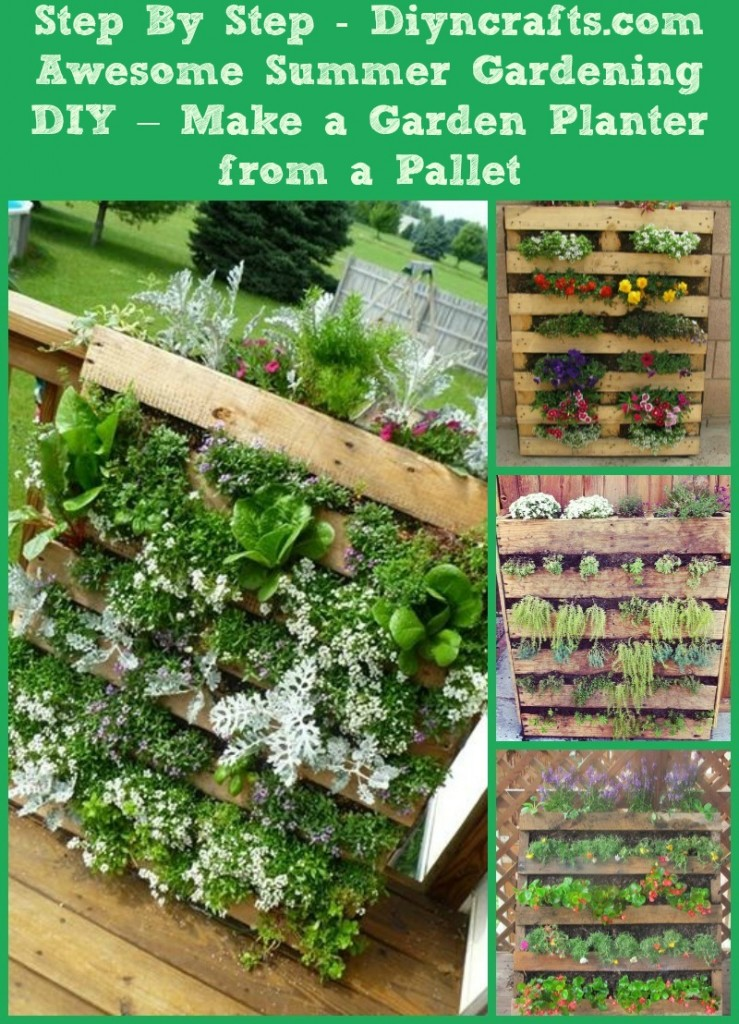 Awesome Summer Gardening DIY – Make a Garden Planter from a Pallet