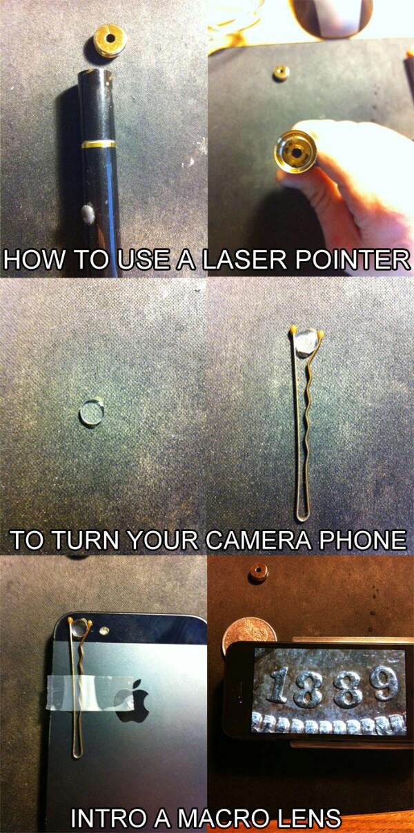 Laser phone camera