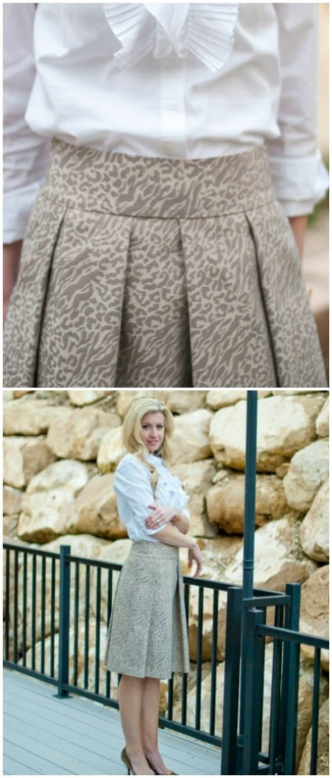 The Gilded Skirt Step by Step Tutorial - Top 15 Summer Ready DIY Skirts With Free Patterns and Instructions
