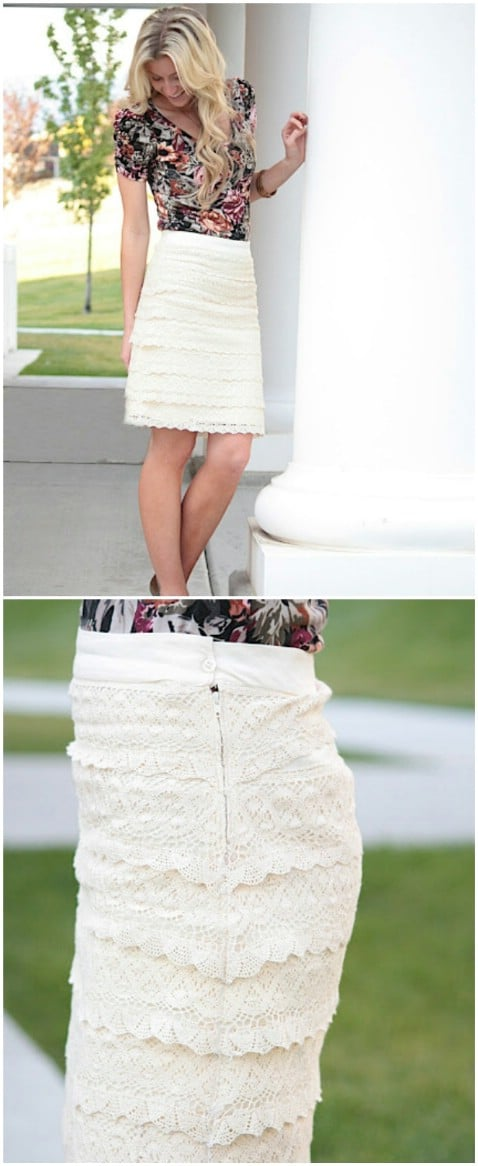 DIY Lace for Days Skirt Step by Step Instructions - Top 15 Summer Ready DIY Skirts With Free Patterns and Instructions