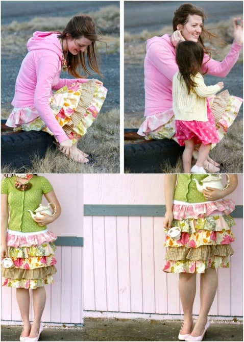 "DIY ""Murphy's"" Layered Skirt Step by Step Instructions - Top 15 Summer Ready DIY Skirts With Free Patterns and Instructions"