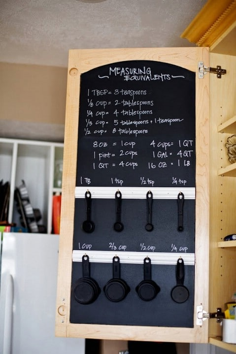 Chalkboard measuring system - Top 68 Lifehacks and Clever Ideas that Will Make Your Life Easier
