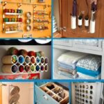 Home organization collage
