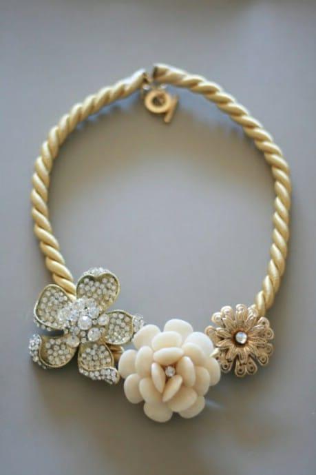 Anthro DIY Marjorelle Necklace - 32 Brilliant DIY Anthropologie Knockoffs
