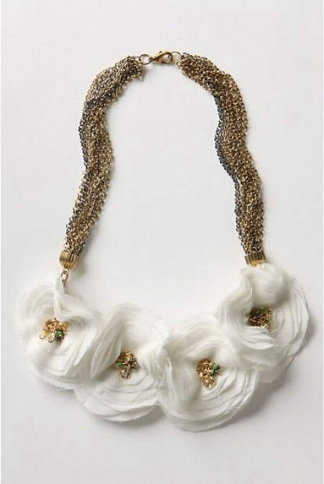 DIY Anthropologie Ranuncula Necklace - 32 Brilliant DIY Anthropologie Knockoffs