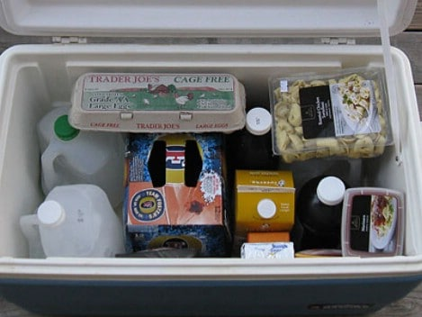 Freeze gallon jugs of water and place them in your cooler. - Top 33 Most Creative Camping DIY Projects and Clever Ideas