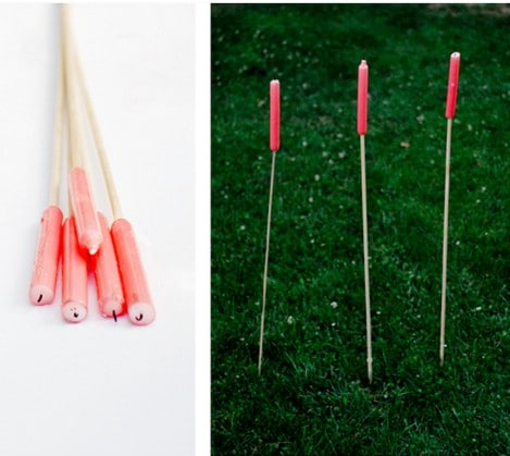 Easy outdoor candle stakes  - Top 33 Most Creative Camping DIY Projects and Clever Ideas