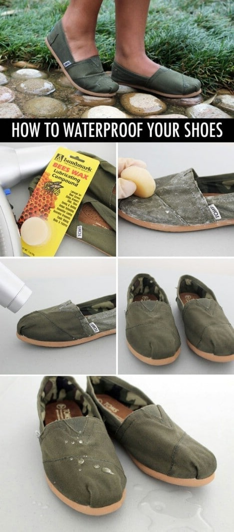How to waterproof your shoes - Top 33 Most Creative Camping DIY Projects and Clever Ideas