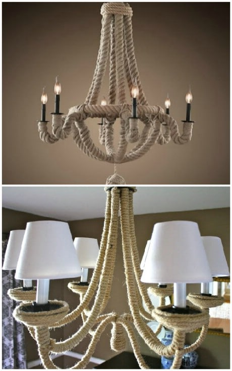 Anthro Knockoff DIY Chandelier - 32 Brilliant DIY Anthropologie Knockoffs