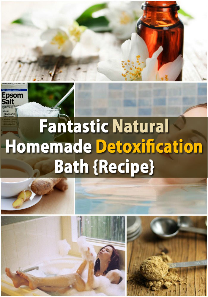 Fantastic Natural Homemade DIY Detoxification Bath {Recipe}