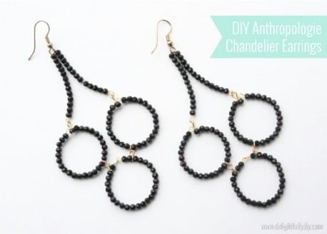 DIY Anthropologie Chandelier Earrings  - 32 Brilliant DIY Anthropologie Knockoffs