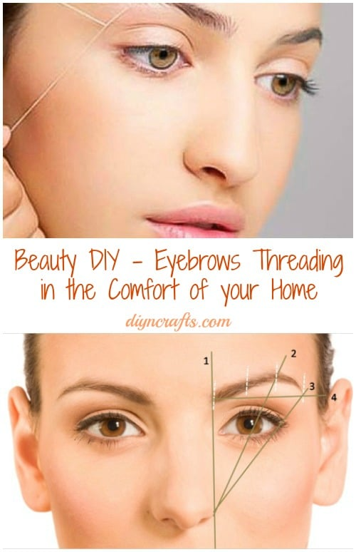 Beauty DIY - Eyebrows Threading in the Comfort of your ...