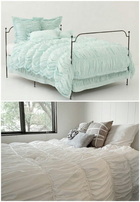 Anthropologie Cirrus Duvet DIY Tutorial - 32 Brilliant DIY Anthropologie Knockoffs