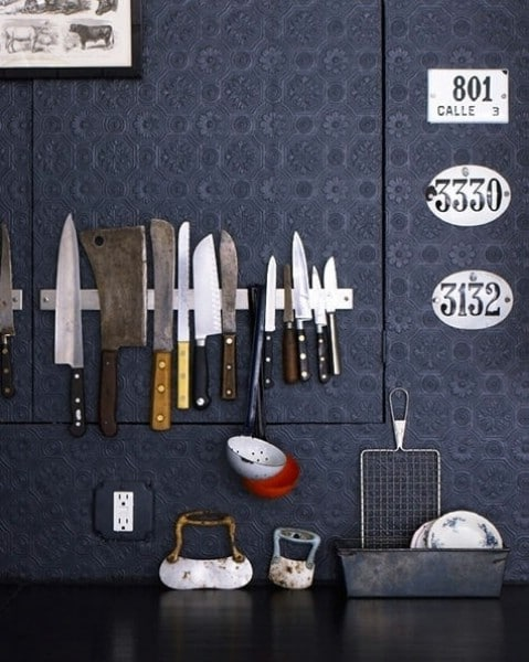 Use a Magnetic Rack to Store Kitchen Utensils - Top 58 Most Creative Home-Organizing Ideas and DIY Projects