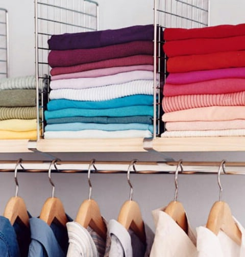 Divider Shelves for Organized Sweaters and Shirts - Top 58 Most Creative Home-Organizing Ideas and DIY Projects