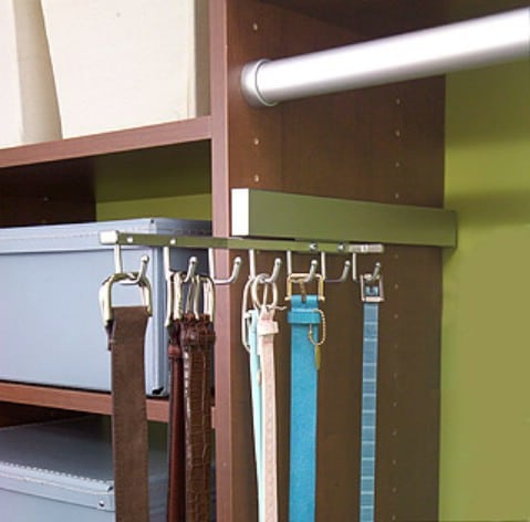 Store Belts on a Sliding Rack - Top 58 Most Creative Home-Organizing Ideas and DIY Projects