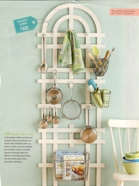 Use Walls To Hang Kitchen Utensils - Play with Ideas and Create Decorative Walls - Top 58 Most Creative Home-Organizing Ideas and DIY Projects