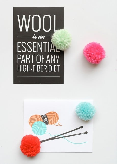 Pom-Pom Magnets and Pushpins - 32 Brilliant DIY Anthropologie Knockoffs