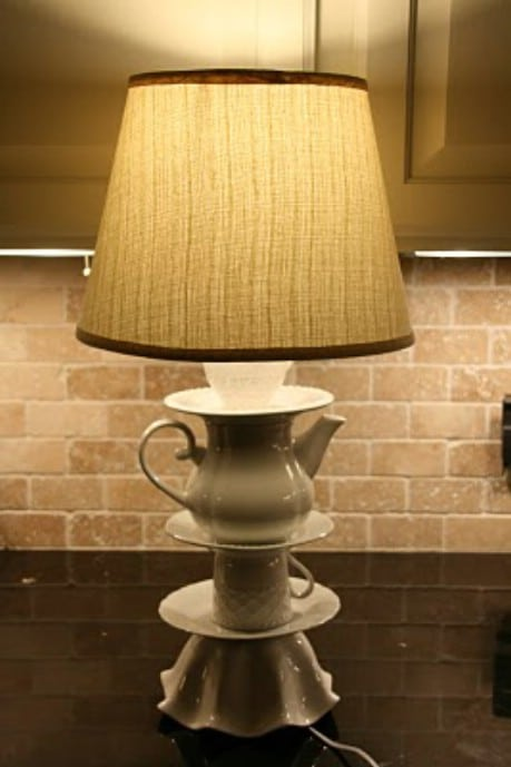 Better Late Than Never....Anthro Knock Off Lamp Tutorial  - 32 Brilliant DIY Anthropologie Knockoffs