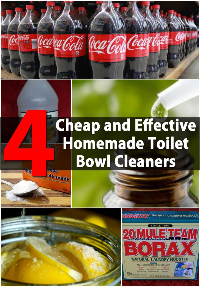 4 Cheap and Effective Homemade Toilet Bowl Cleaners