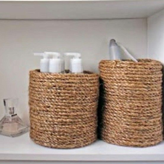 Rustic Bathroom Storage - 30 Brilliant Bathroom Organization and Storage DIY Solutions