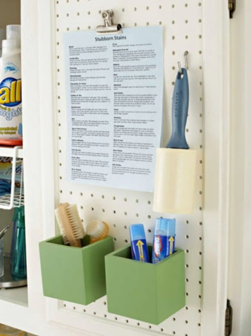 Laundry Room Behind the Scenes Organizing - 150 Dollar Store Organizing Ideas and Projects for the Entire Home