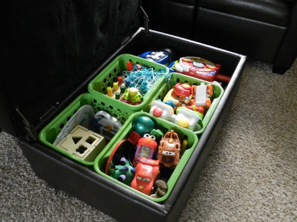 Crates for Toy Box Organization - 150 Dollar Store Organizing Ideas and Projects for the Entire Home