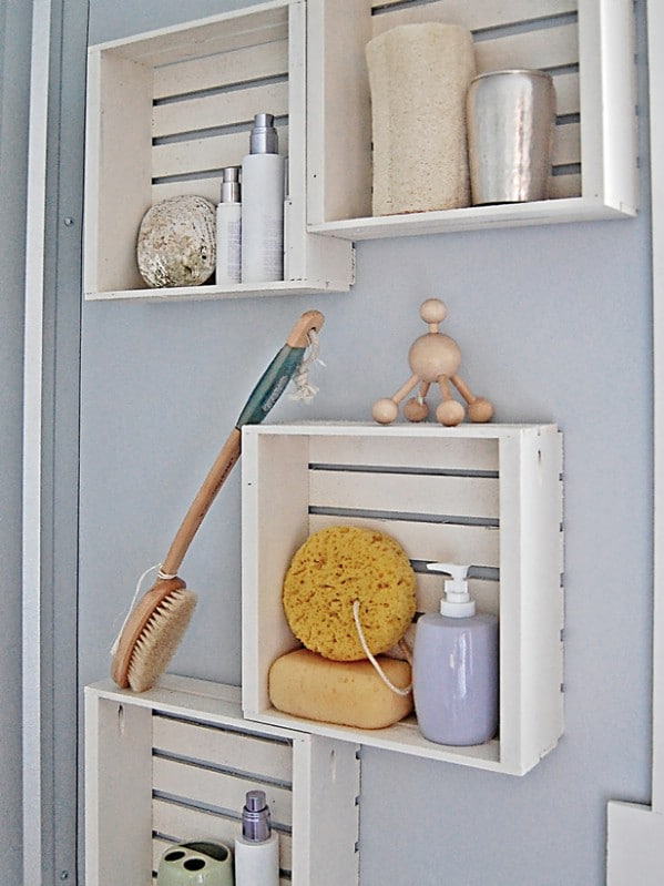 Fast and Easy DIY Shelving - 30 Brilliant Bathroom Organization and Storage DIY Solutions