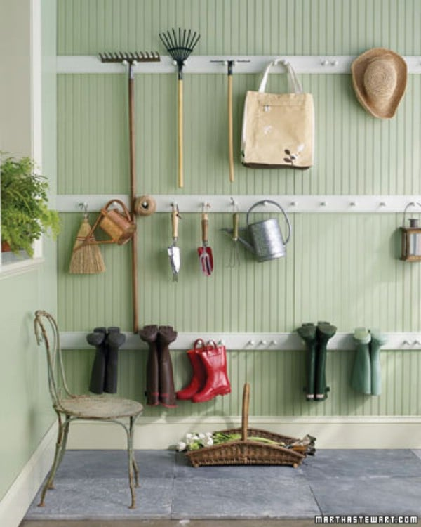 Create a Peg Rail Organizer - 49 Brilliant Garage Organization Tips, Ideas and DIY Projects