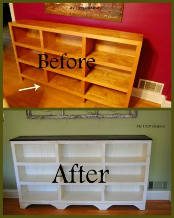 Ugly Bookcase To Cottage Charm - Top 60 Furniture Makeover DIY Projects and Negotiation Secrets