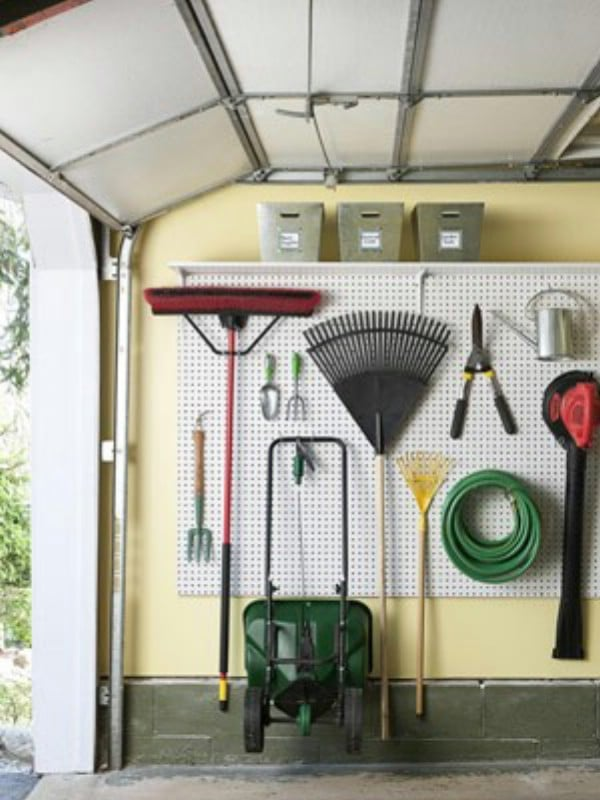 Use a Pegboard to Make Space - 49 Brilliant Garage Organization Tips, Ideas and DIY Projects