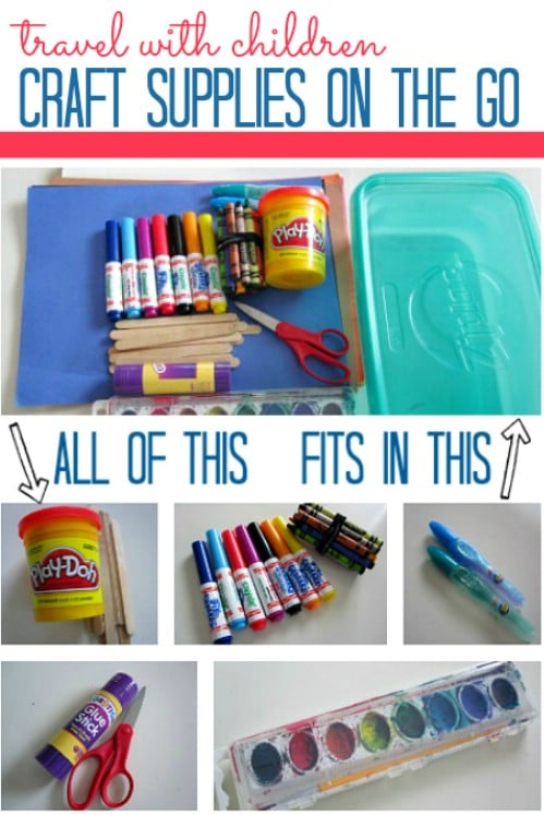 Organize Craft Supplies for Trips - 150 Dollar Store Organizing Ideas and Projects for the Entire Home