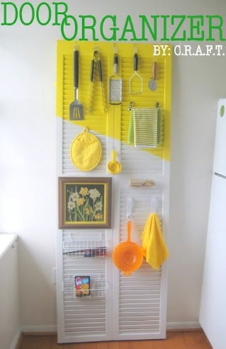 DIY Door Organizer - 60+ Innovative Kitchen Organization and Storage DIY Projects