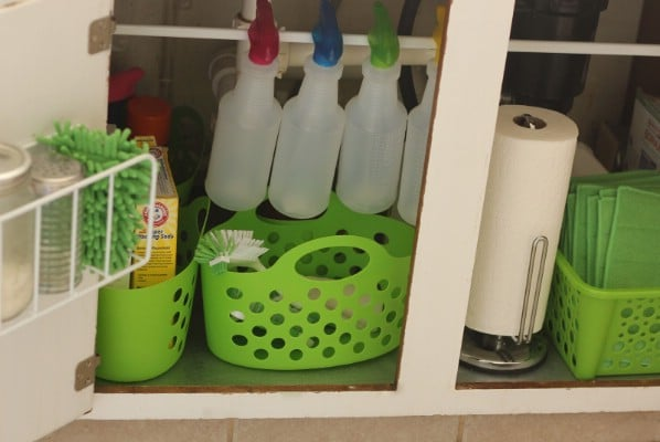 Organize Under the Kitchen Sink - 150 Dollar Store Organizing Ideas and Projects for the Entire Home