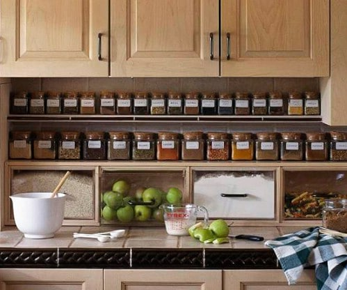Space-Savvy Ways to Store Spices - 60+ Innovative Kitchen Organization and Storage DIY Projects