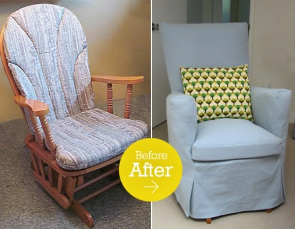 Reshaping the glider - Top 60 Furniture Makeover DIY Projects and Negotiation Secrets