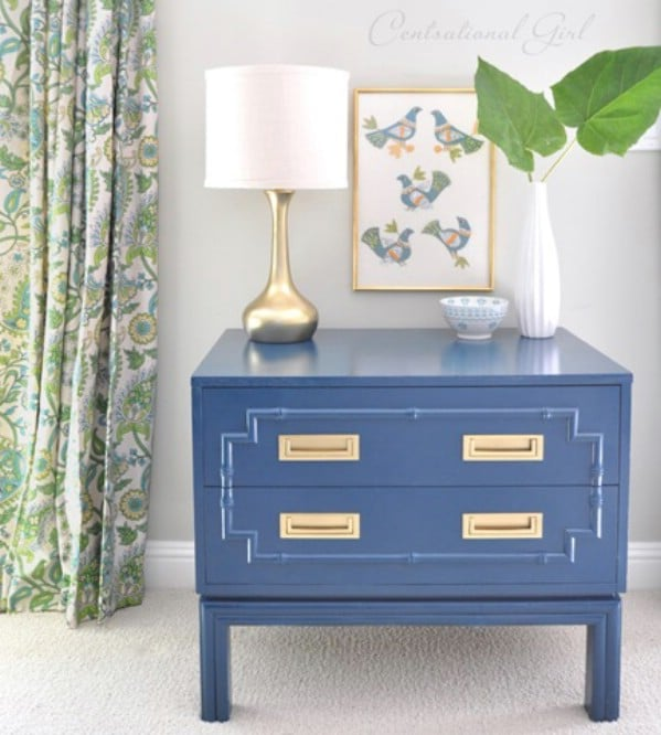 Faux bamboo chest makeover - Top 60 Furniture Makeover DIY Projects and Negotiation Secrets