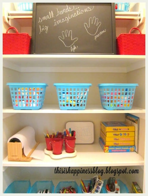 Organize Your Arts and Crafts Closet - 150 Dollar Store Organizing Ideas and Projects for the Entire Home
