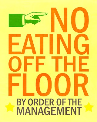 No Eating off the Floor - Free Printable - 60+ Innovative Kitchen Organization and Storage DIY Projects