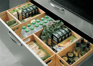High/Low: Kitchen Drawer Organization - 60+ Innovative Kitchen Organization and Storage DIY Projects